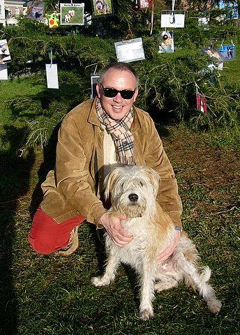 Peter Taylor and his pup, Quincy McDougal Taylor, PHD!