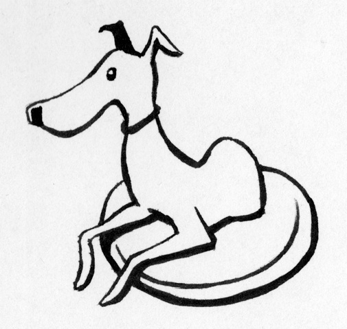 Italian Greyhound Line Art