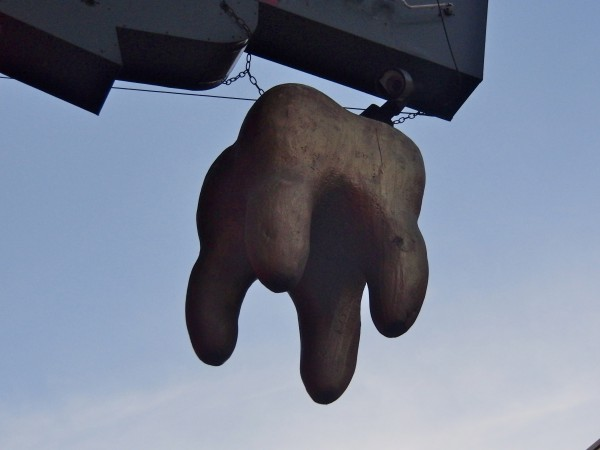 Giant Gold Tooth Outside of McTeague's Tavern