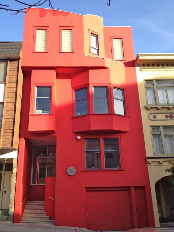 Big Red Row House For No Goddamn Reason