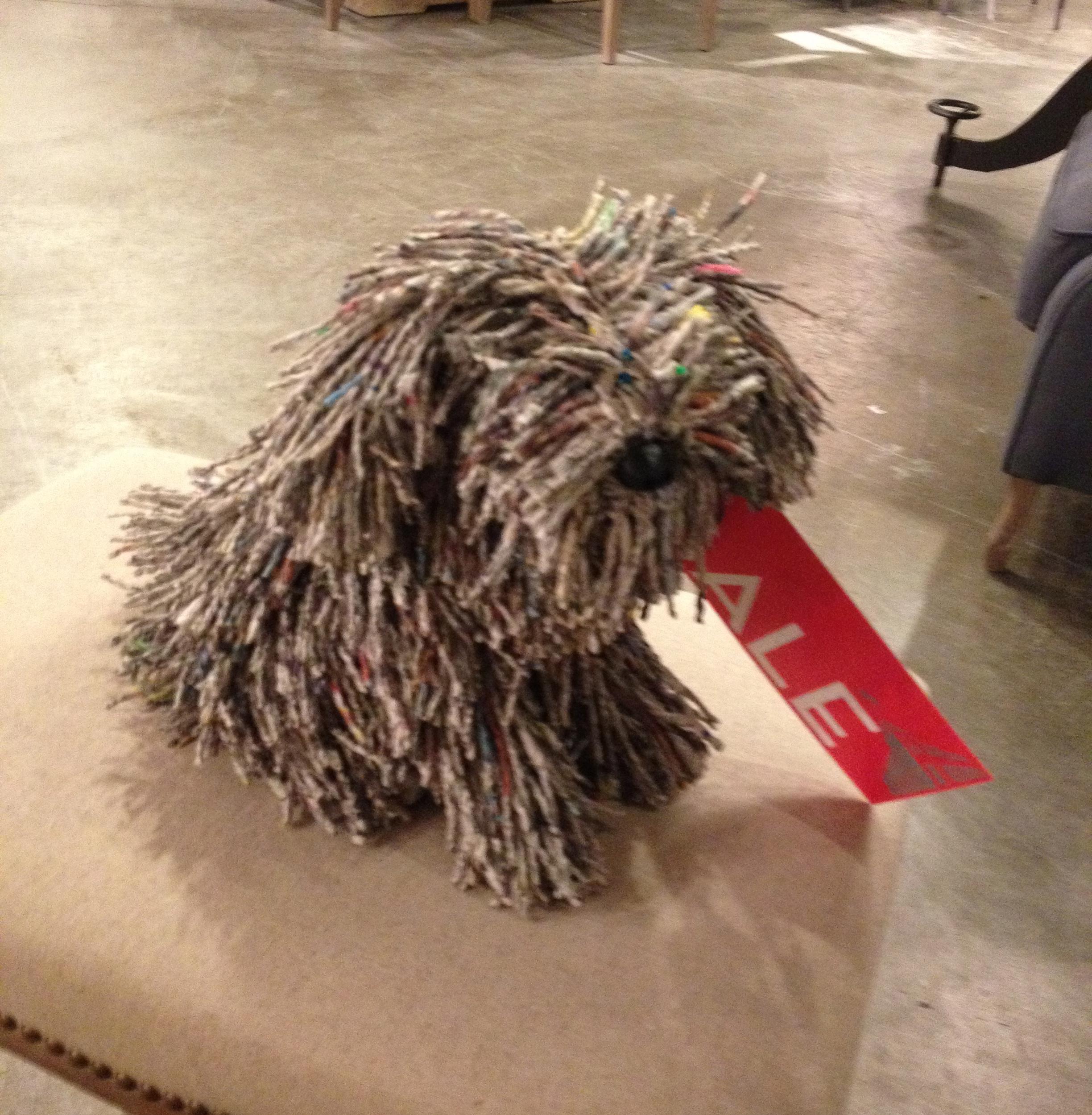 Fuzzy Dog Statue