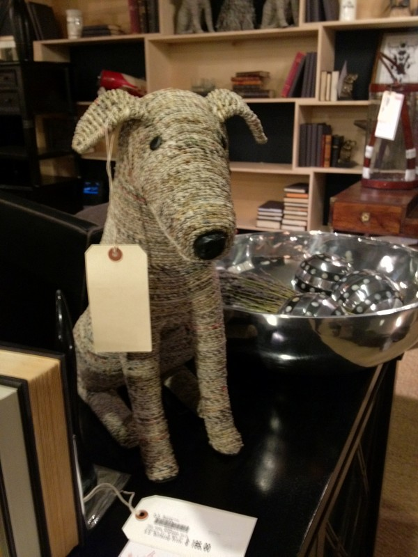 Wickerwork Dog Statue