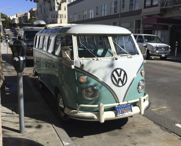 Mint-Condition Aqua-And-White 1963 Volkswagen 23-Window Deluxe Microbus Samba