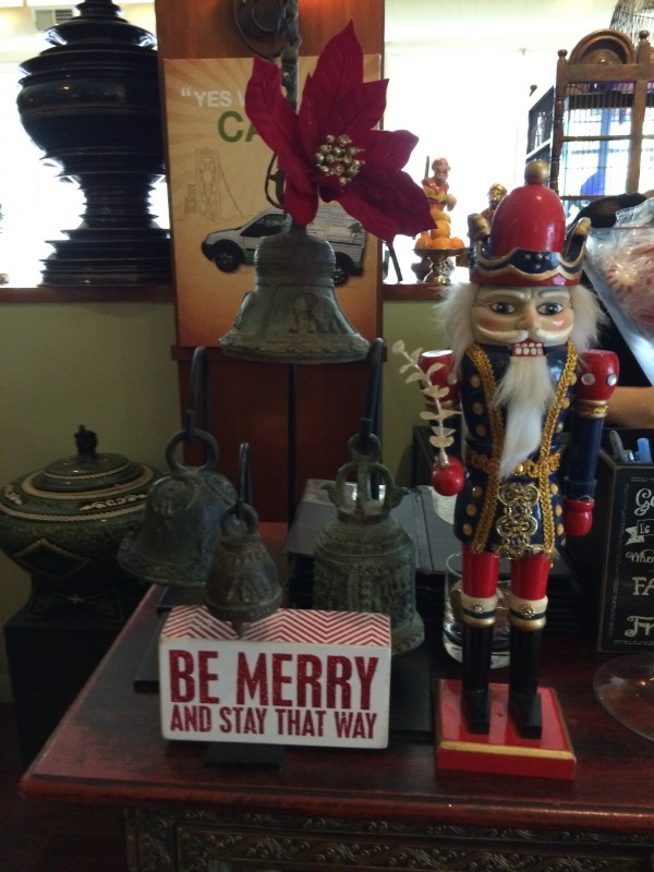 Nutcracker With Sign That Says Be Merry And Stay That Way