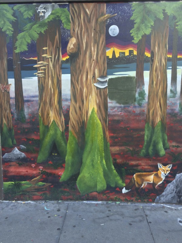 San Francisco Mural With Forest And Fox