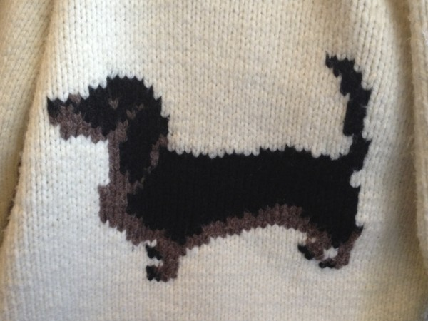 Dachshund Pattern On Sweater