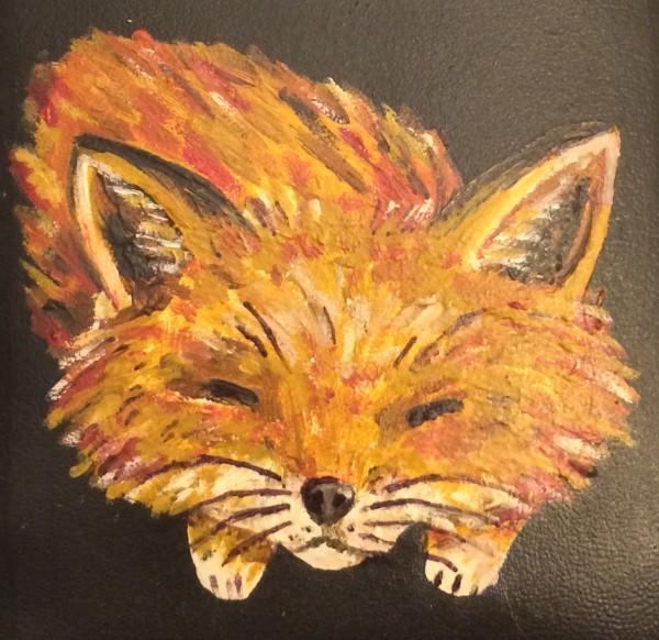 Cute Little Hand-Painted Sleeping Fox