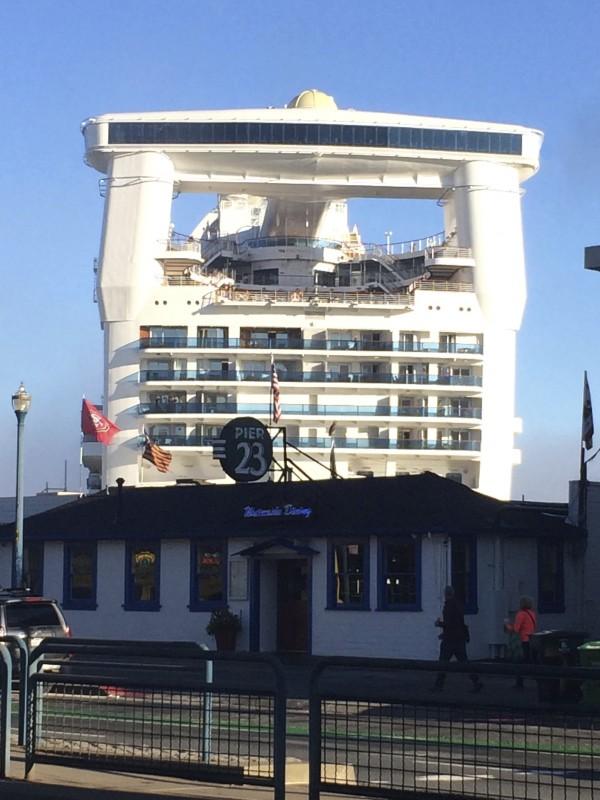 Cruise Ship Docked At Pier 23, San Francisco