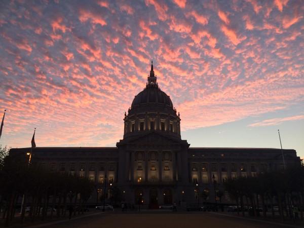 San Francisco City Hall At Sunset