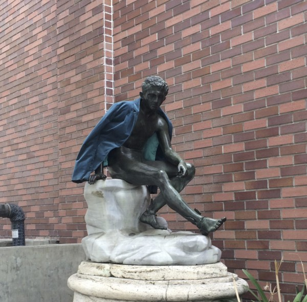 Statue Of Man With Winged Feet