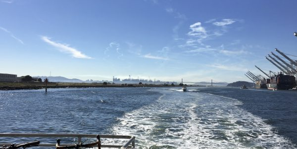 View From The Back Of The Alameda Ferry