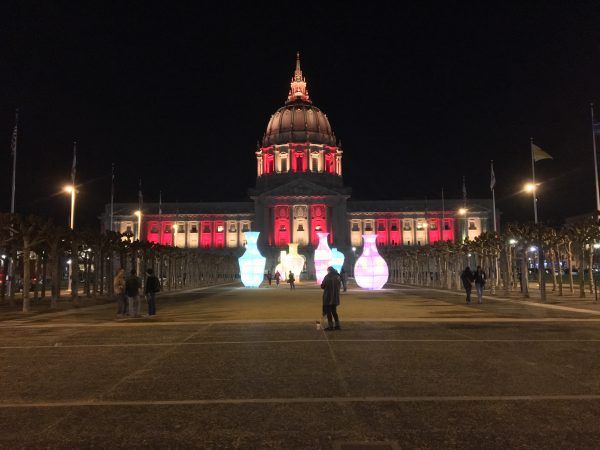 San Francisco City Hall Lit Up For Chinese New Year