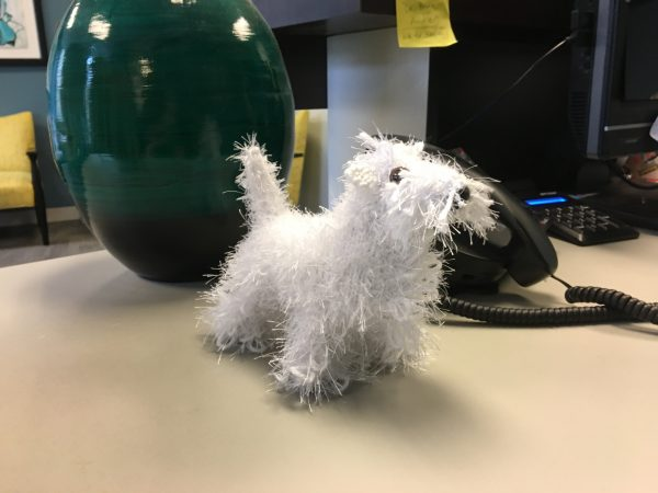Knitted West Highland White Terrier Doll