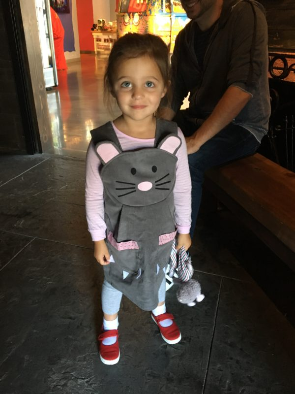 Little Girl In Mouse Jumper