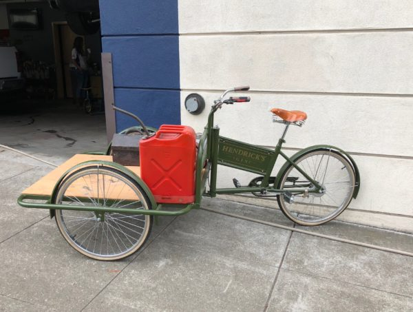 Hendrick's Gin Delivery Bicycle