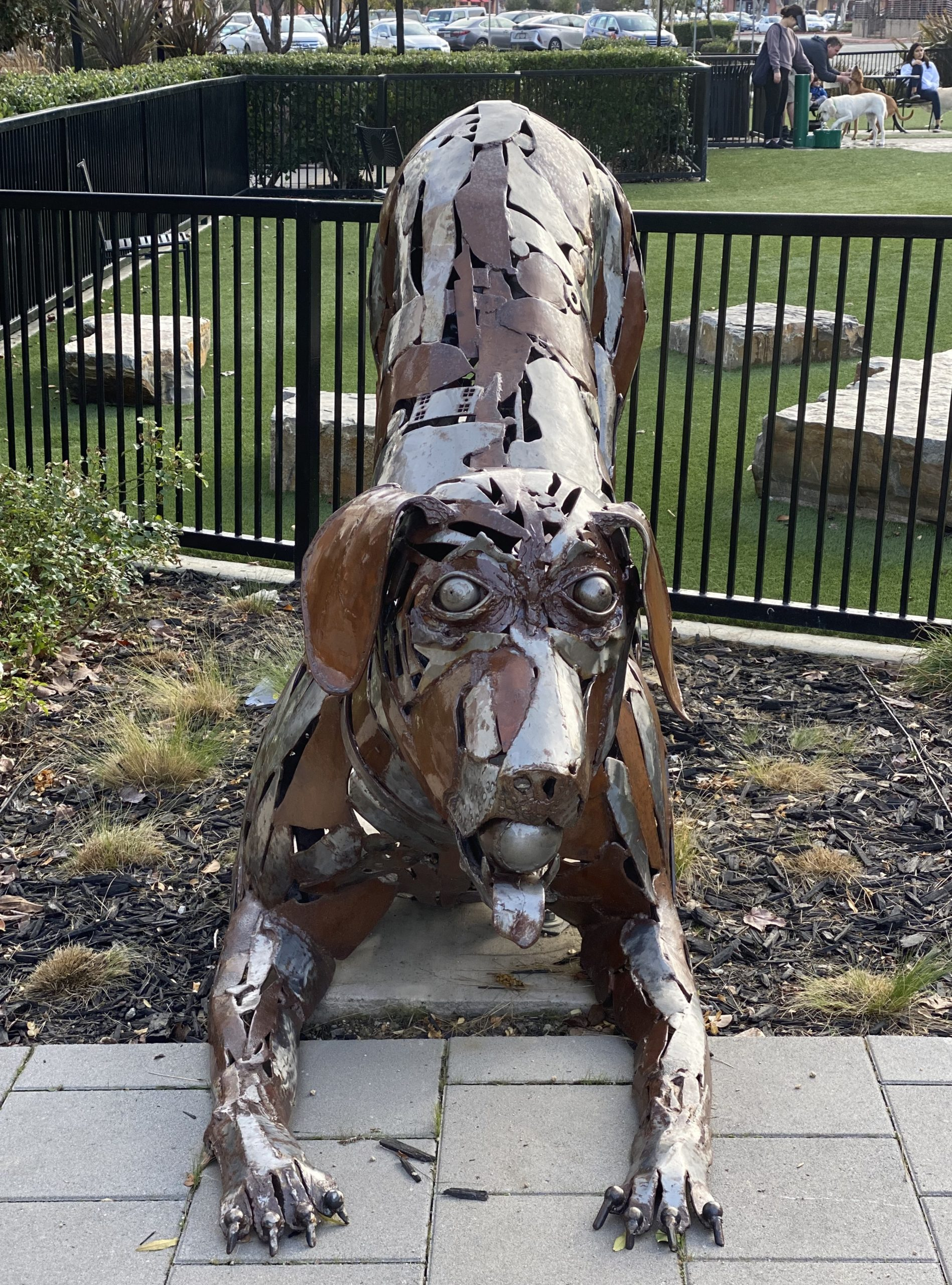 Metal Statue of a Dachshund