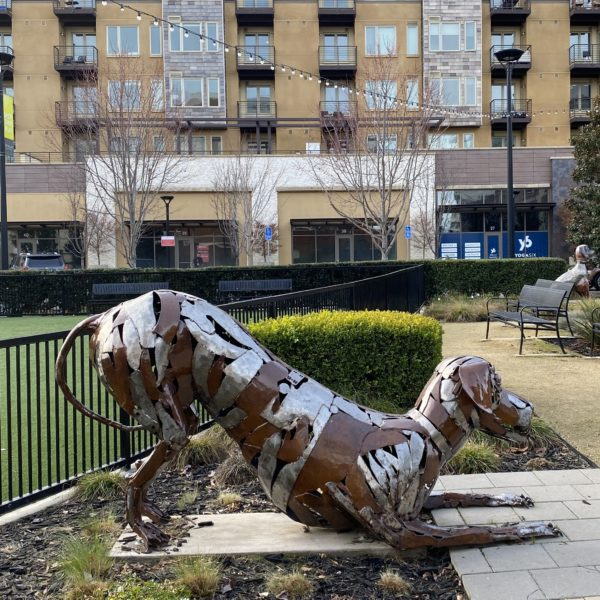 Metal Statue of a Dachshund